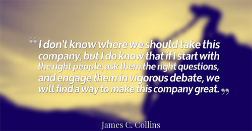 Jim Collins Leadership Quote